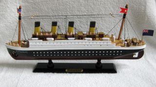 Holz Dampfschiff Schiffsmodell Titanic 34cm Sehr Detailliert Standmodell Bild