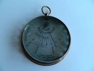 1900 Antik Hygrograph Hygrometer Wetterstation Alt Kupfer Haar Hygrometer Bild