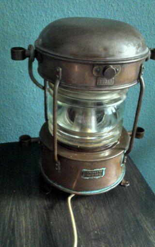 Schiffslampe Kupfer,  Ankerlampe,  Bootsleuchte Höhe Ca 40 Cm Bild