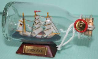 Buddelschiff Gorch Fock Schiff Militär Segelschiff In Flasche Glas Bild