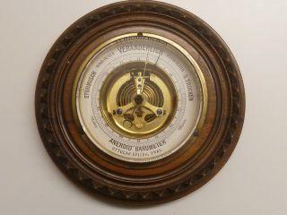 Aneroid Barometer,  Ottocar Spitra,  Prag Um 1900,  Deutsch Beschriftet,  Perfekt Bild