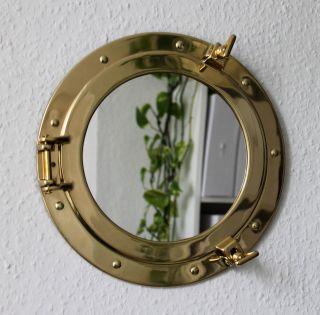 Bullauge Spiegel Massiv Messing Zum öffnen Ø 29cm Bullaugenspiegel Bild