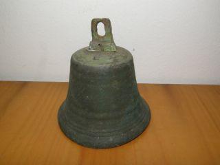 Antike Glocke Mit KlÖppel Bronze Messing Kupfer? Bild