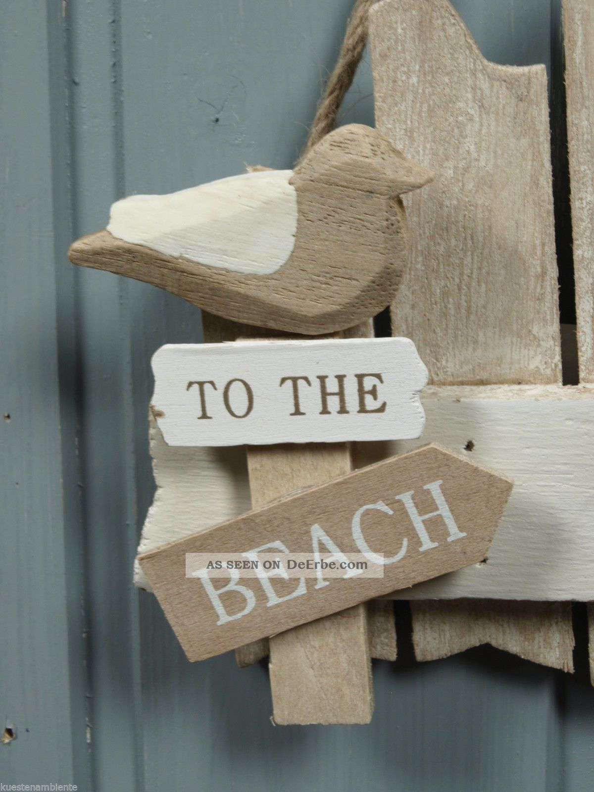 T r schild bad aus holz to the beach ca 17x14cm for Maritimes bad