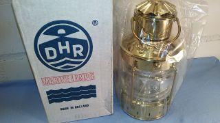 Orig.  Dhr Ankerlaterne No.  8611/0 & Ovp Messing Poliert Petroleum Bild