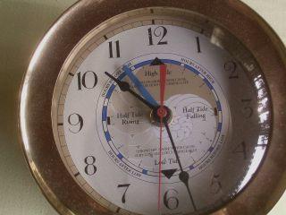 Massive Übergrosse Tiden/gezeitenuhr Mit Zeitanzeigetime And Tide Clock Messing Bild