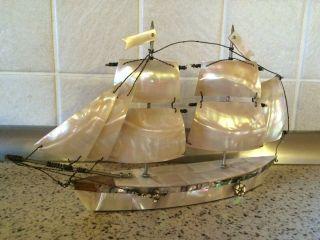 Perlmutt Segelschiff Bild