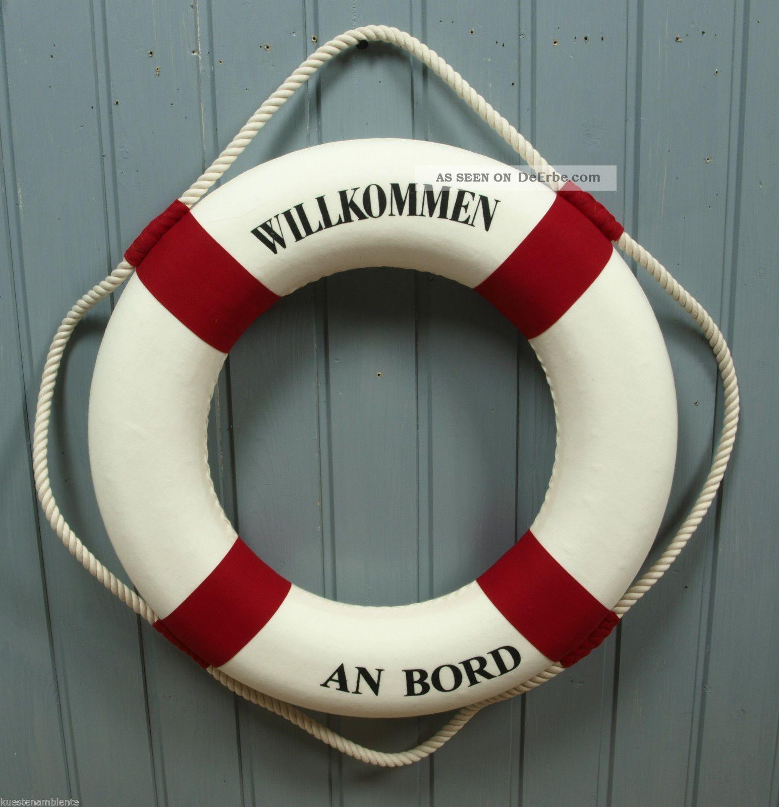 gro er deko rettungsring 50cm rot wei f r die maritime. Black Bedroom Furniture Sets. Home Design Ideas