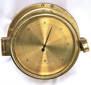 Schiffs - Thermometer In Massivem Messinggehäuse,  Unverwüstlich,  2,  5 Kg Bild