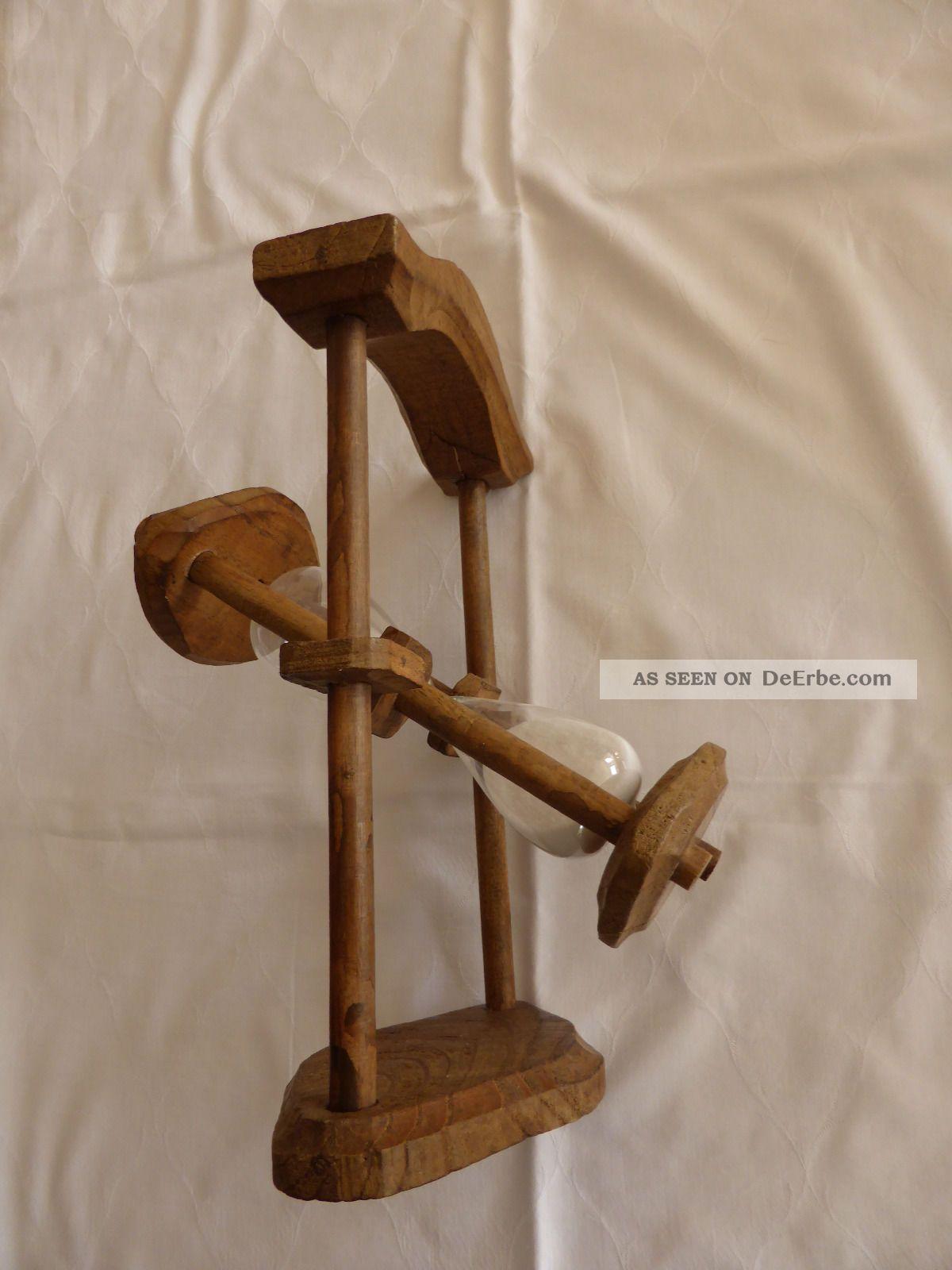 antike sanduhr halbstundenglas aus holz eiche 30 min 1. Black Bedroom Furniture Sets. Home Design Ideas