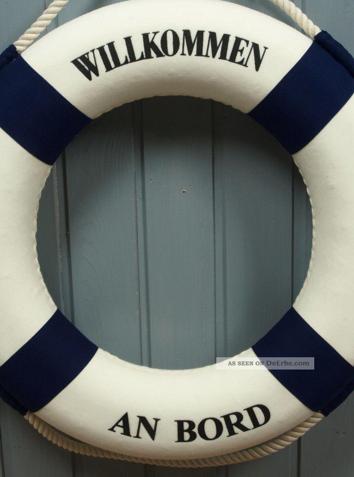 Großer Deko Rettungsring 50cm Blau/weiß Für Die Maritime Dekoration ...