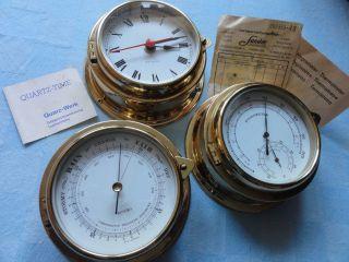 Rarität Benora Hamburg Precisions Barometer Wetterstation Uhr Alt Messing Glas Bild
