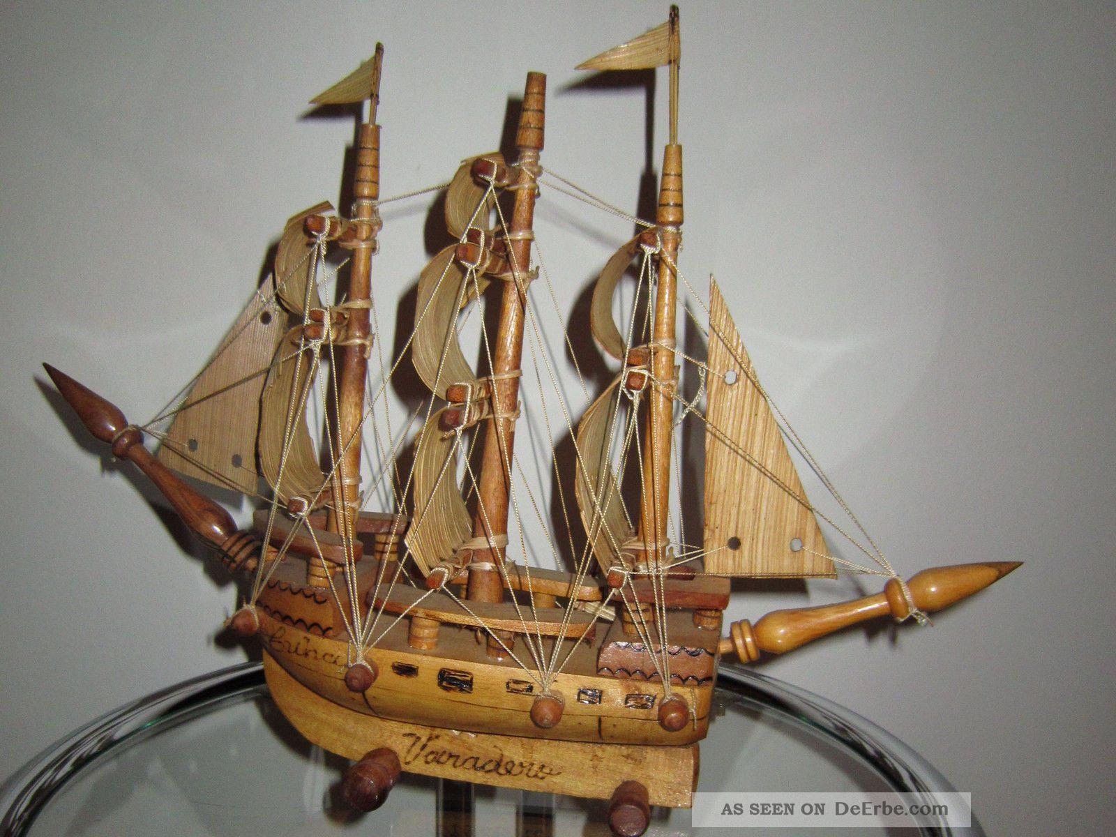 Holz Schiff Deko Schiff Segelschiff Kunsthandwerk