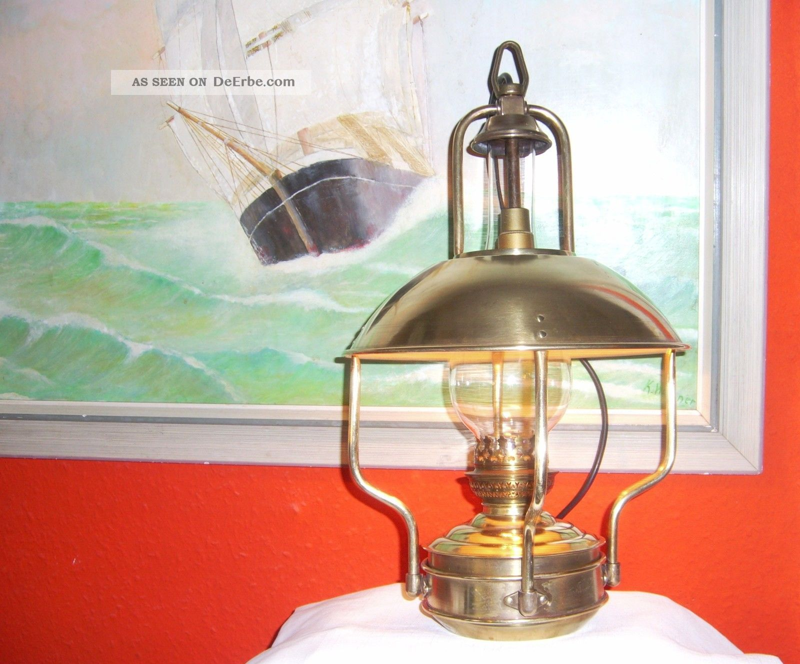 Schiffslampe tisch oder h ngelampe kaj tenlampe maritim glaszylinder elektr - Dekoration maritim ...