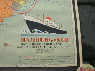 Plakat Hamburg - Südamerikanische Dampfschifffahrts - Gesellschaft Um 1950 Bild