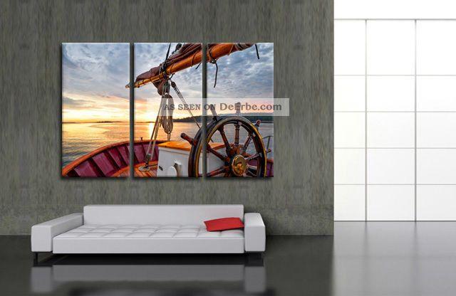 Esszimmer Vegesack Bischoff Esszimmer Vegesack Leinwandbild Boot Segel  Segeln Jacht Yacht Ozean Meer Bilder Deko Wandbild 3tlg