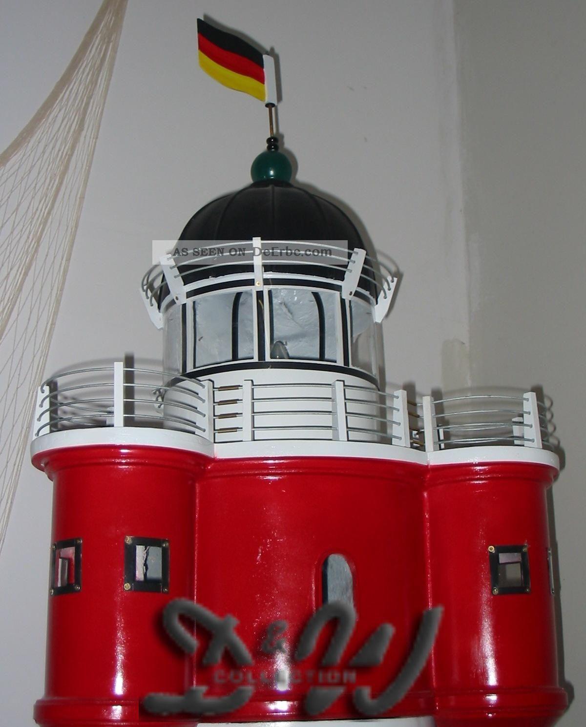 Xxl leuchtturm roter sand 270 cm mit doppellicht garten for Dekoration maritim