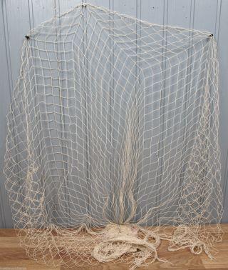 Deko Fischernetz ca 1,2  x 2,5m beige mit 7 Schwimmern Maritim