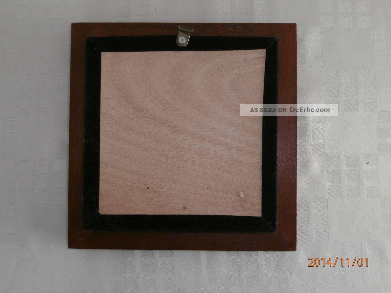 sch nes kastenbild segelschiff hinter glas mit holzrahmen zum aufh ngen. Black Bedroom Furniture Sets. Home Design Ideas
