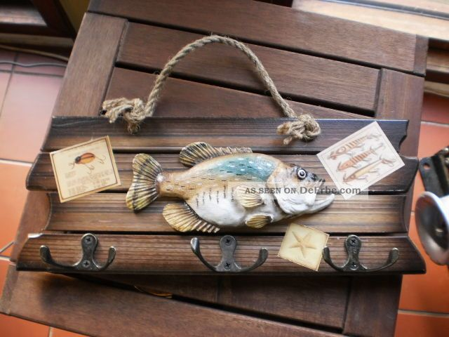 Garderobe schiff boot fisch f r angler maritim dekoration - Dekoration maritim ...