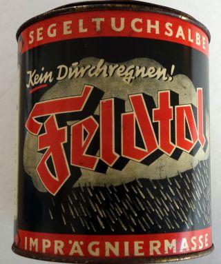 Segeltuchsalbe Feldtol Um 1930 Imprägniermasse Bild