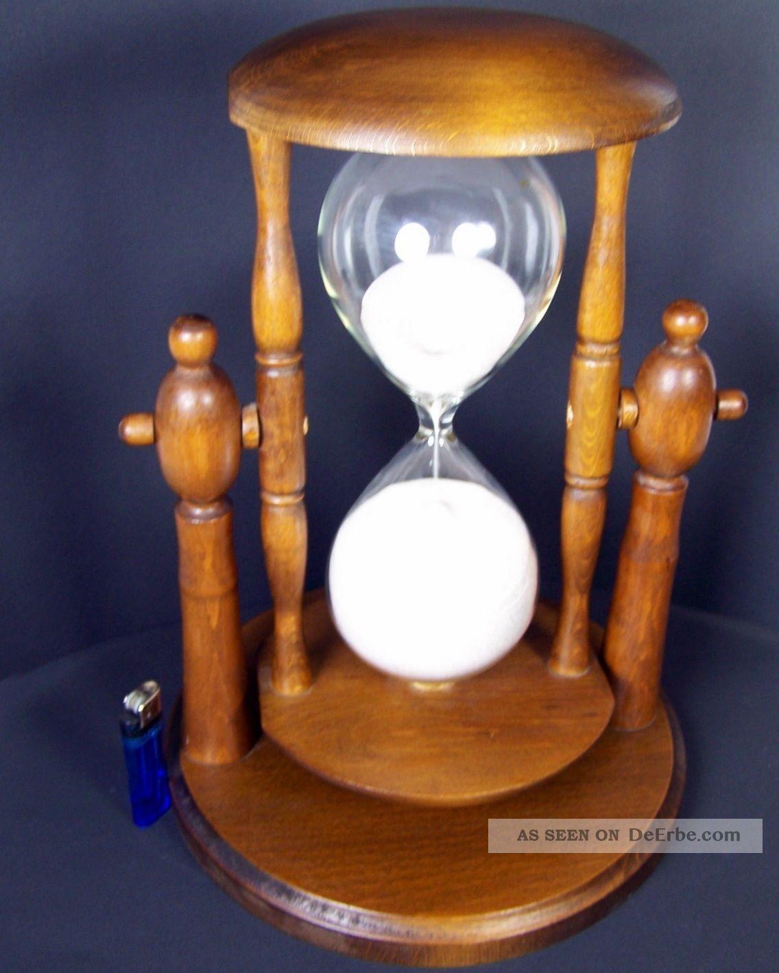 xxl pr chtige riesen sanduhr stundenglas glasenuhr holz 1. Black Bedroom Furniture Sets. Home Design Ideas