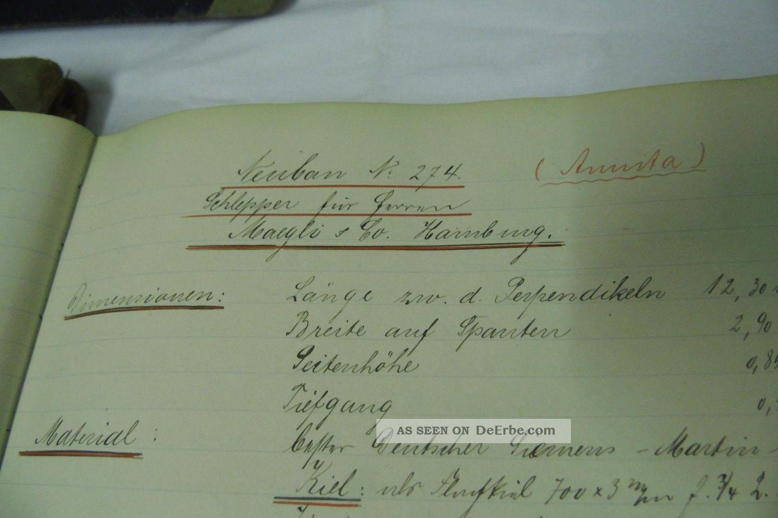 kremer werft elmshorn 5 b cher baubeschreibungen 1900