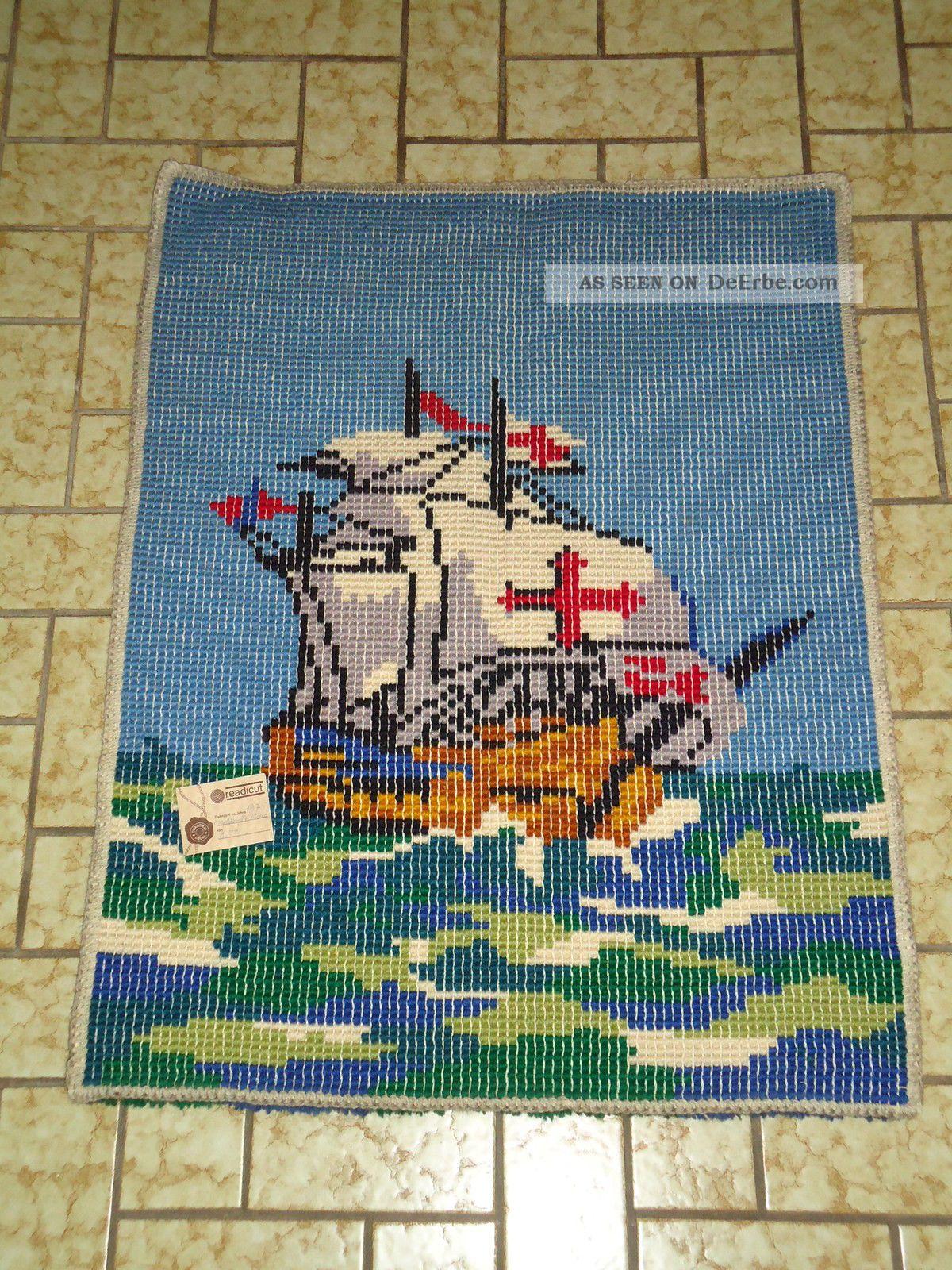 Wandteppich teppich schiff piraten maritim meer gekn pft - Teppich maritim ...