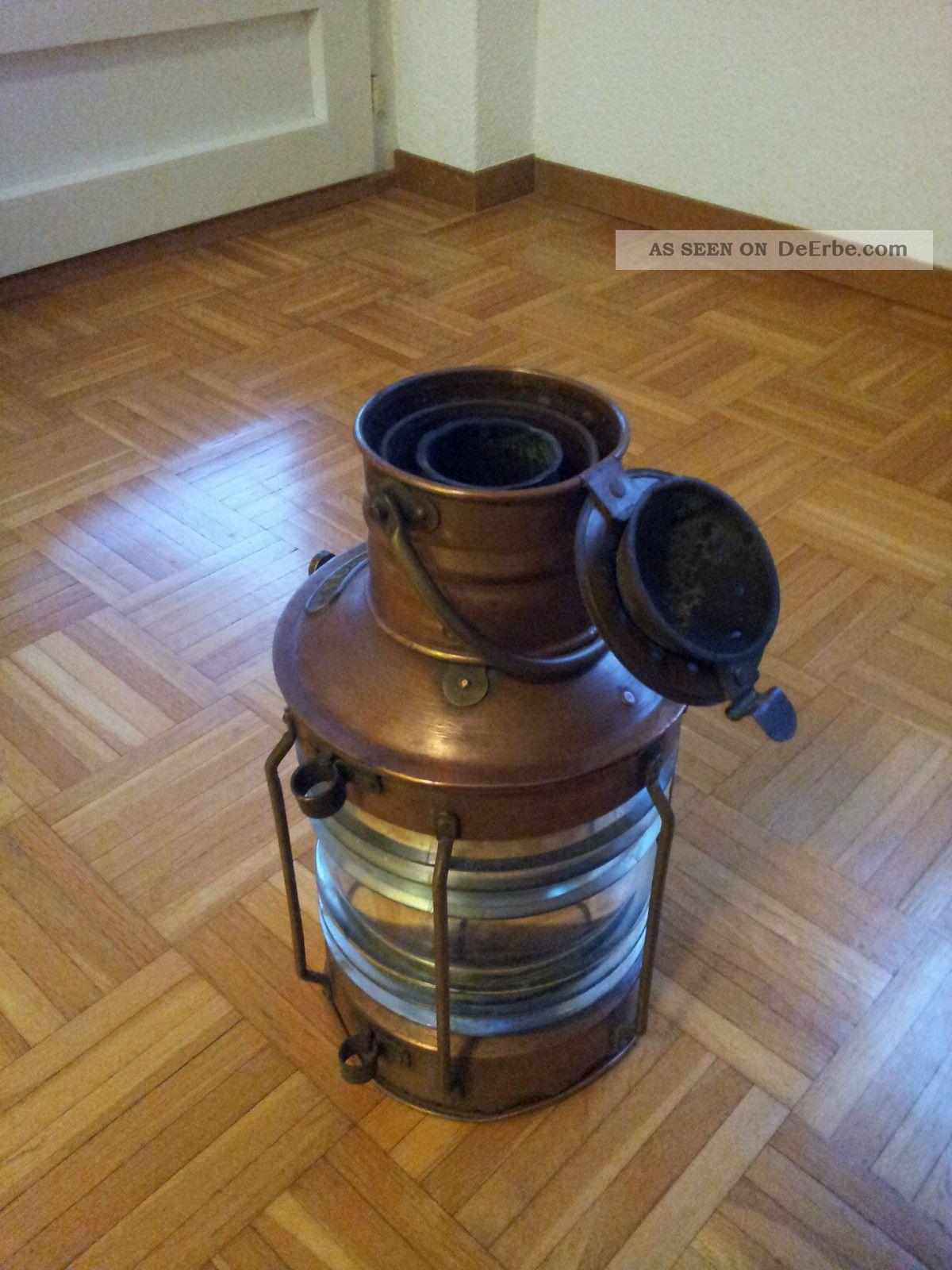 antike schiffs laterne kupfer. Black Bedroom Furniture Sets. Home Design Ideas