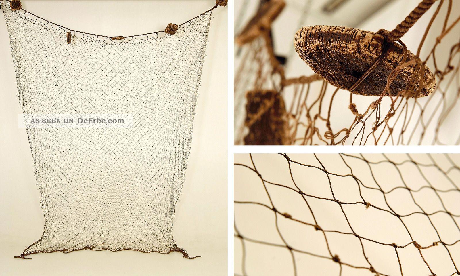 altes fischernetz fragment mit kork schwimmer maritim. Black Bedroom Furniture Sets. Home Design Ideas