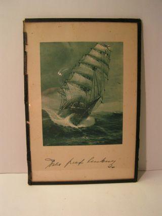 """Alter Druck """"seeadler"""" Mit Unterschrift Graf Luckner 1926 Bild"""
