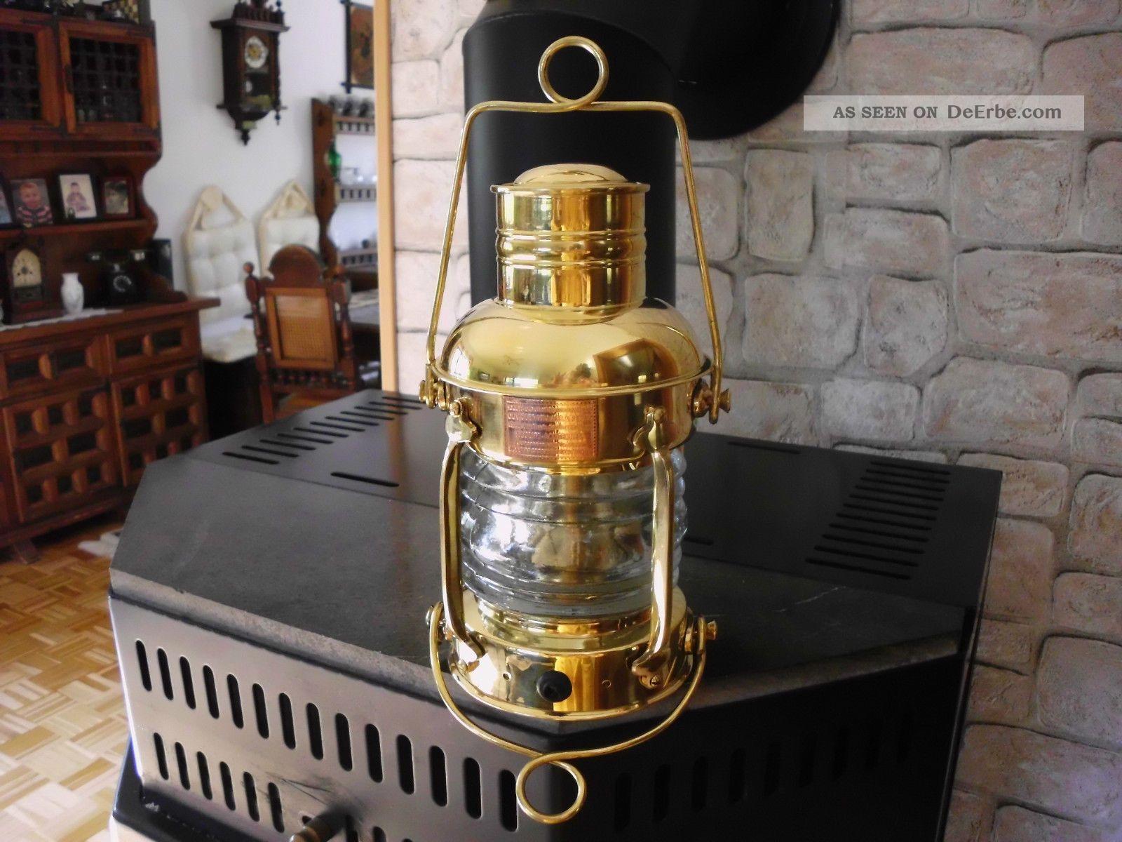 schiffslaterne ankerleuchte boot lampe maritim messing. Black Bedroom Furniture Sets. Home Design Ideas