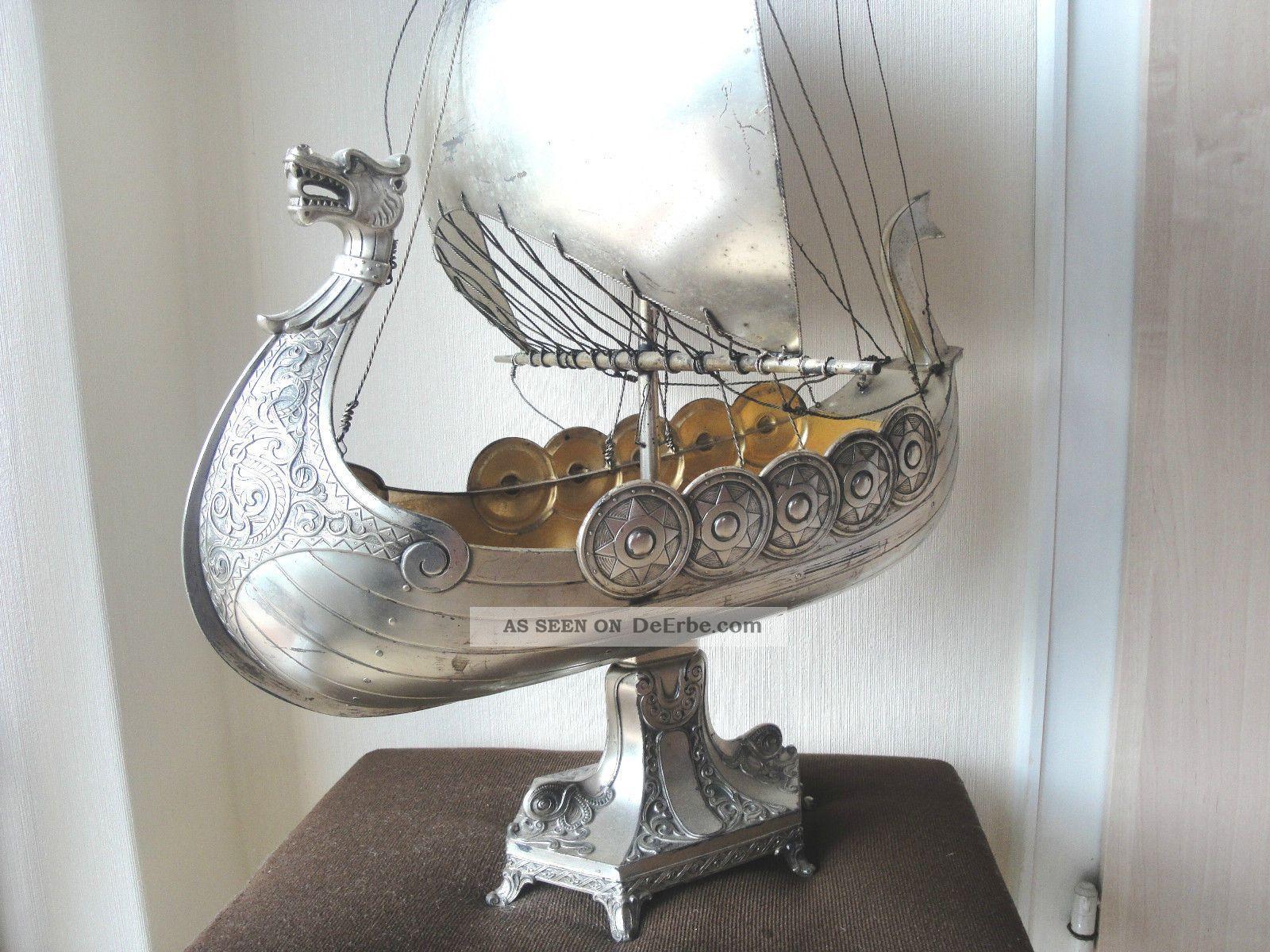 Segelschiff Schiff Vikingschiff Aus Metal Gro Deko