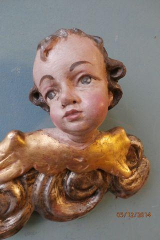 Engel,  Putte,  Engelskopf Auf Wolken Um 1800 Bild