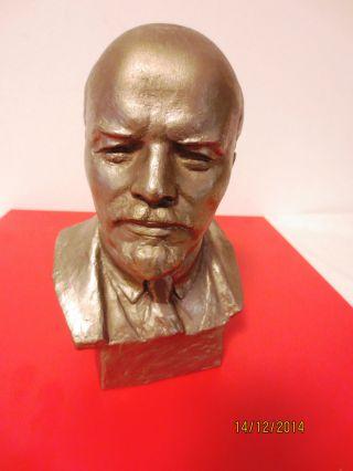 Metallbüste W.  I.  Lenin,  Aluminium,  Design N.  Waganow 1977 Bild
