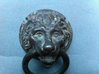 Schöner Bronzegriff,  Löwenkopf Mit Ring Um 1700 Oder Früher Bild