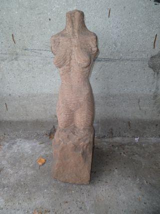 Grosse Sandstein Skulptur Nackte Frau 1962,  63 Sehr SchÖne Arbeit Bild
