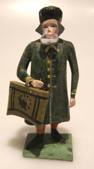 Grulich - Krippenfigur Verkäufer Mit Tasche,  Um 1900 Bild