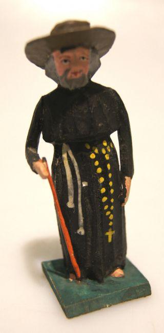 Grulich - Krippenfigur Pfarrer,  Um 1900 Bild