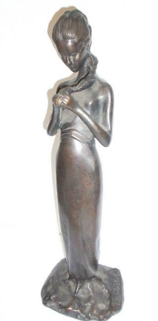 Mädchenfigur - Bronze Von P.  P.  Troubetzkoy Bild
