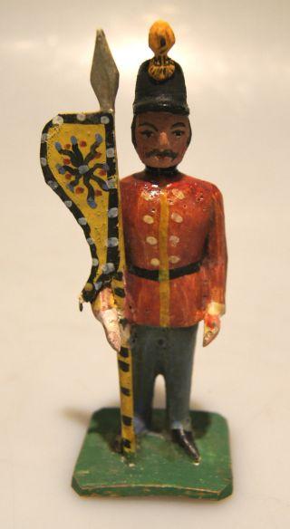 Grulich - Krippenfigur K.  U.  K.  Soldat - Fahnenträger,  Um 1900 Bild