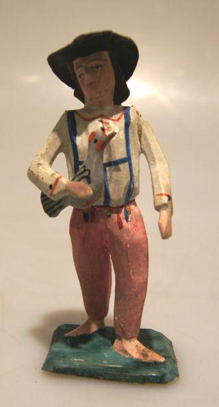 Grulich - Krippenfigur Taubenhändler,  Um 1900 Bild