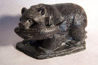 Bär Mit Lachs,  Grizzly,  Canada,  Unikat,  25 - 1,  Handarbeit Bild