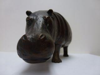 Nilpferd Flusspferd Hippo Bronze Limitiert Von Lutz Lesch Top Bild