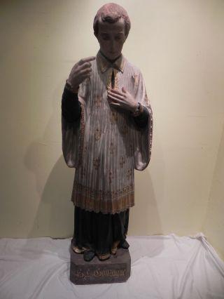Lebensgrosse Heiligenfigur Figur Frankreich Gefasst Bild