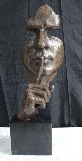 Bronze Skulptur - Stille