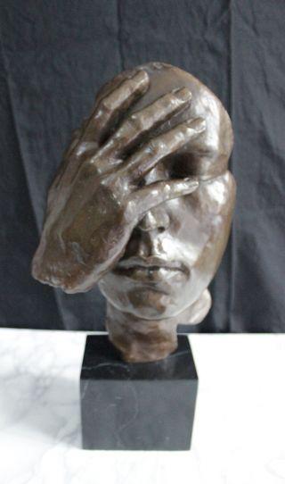 Bronze Skulptur - Besinnung