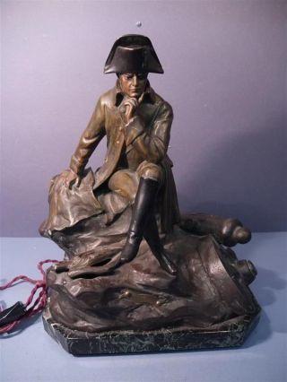 Alte Skulptur,  Napoleon Au Bivouac,  Metallguß,  Sign.  Paul Lemoyne,  Wohl Um 1850 Bild
