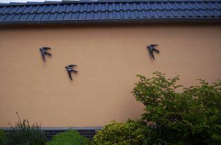 Fassade - Wand - Schwalbe - Vögel - Eisen - Metall - Wandbild - Wandschmuck - Mauersegler - Bild