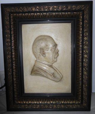 Altes Reliefbild,  Otto Von Bismarck,  Prunkvoller Rahmen,  Signiert Ck.  95 Bild